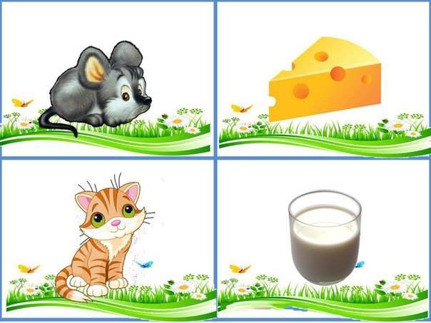 Карточки кто что ест животное и еда