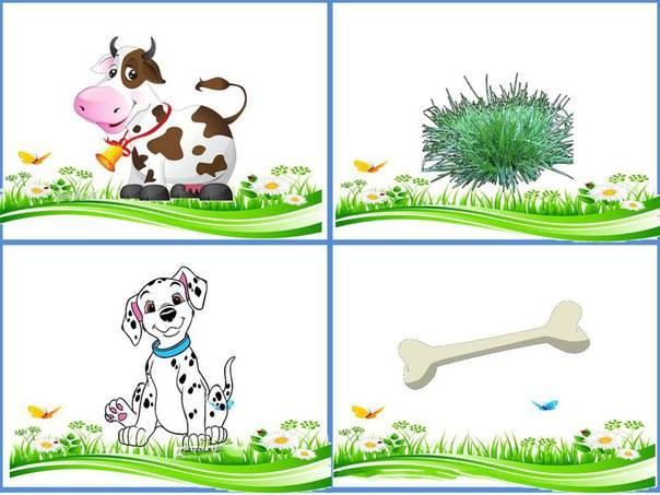 Дидактическая карточка домашние животные