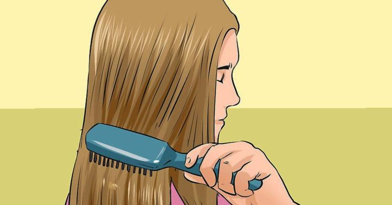 Картинка девочка причёсывается