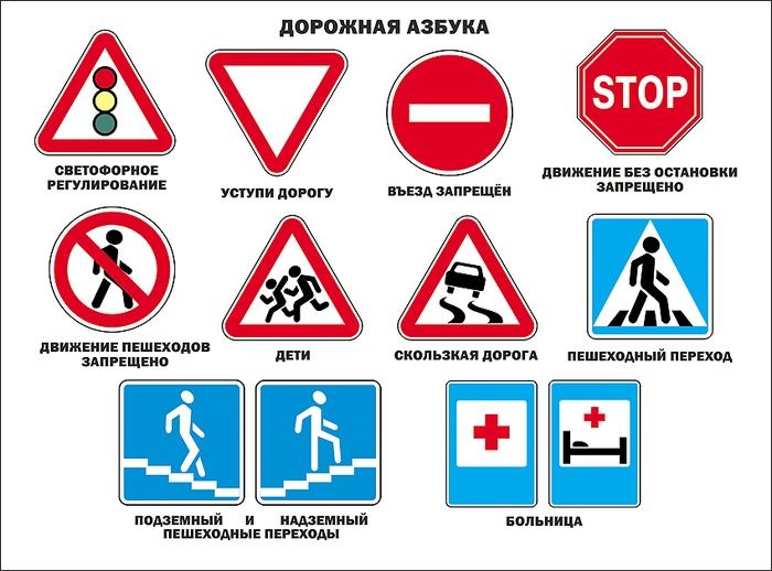 дорожные знаки в качественных картинках