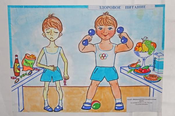Рисунок Здоровое питание