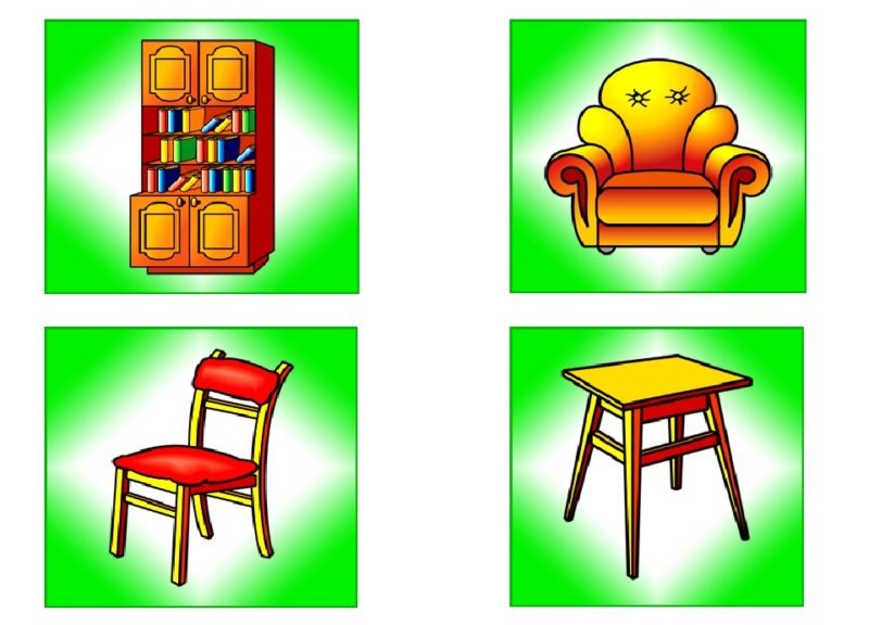 рисунок на тему мебель для подготовительной группы единственная