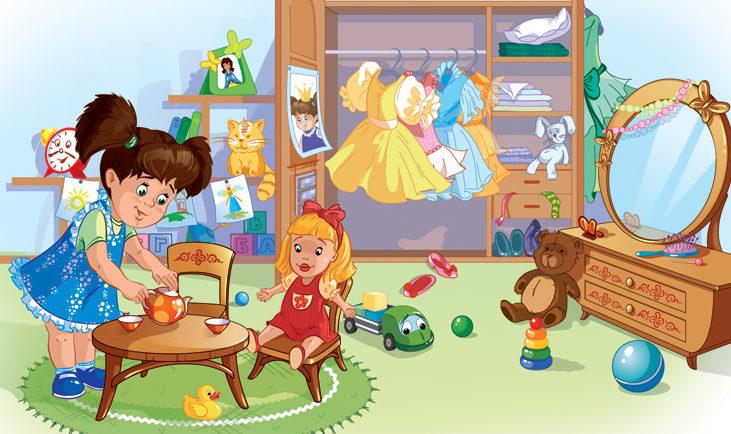 Ребёнок с куклой