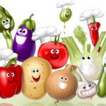 Весёлые овощи
