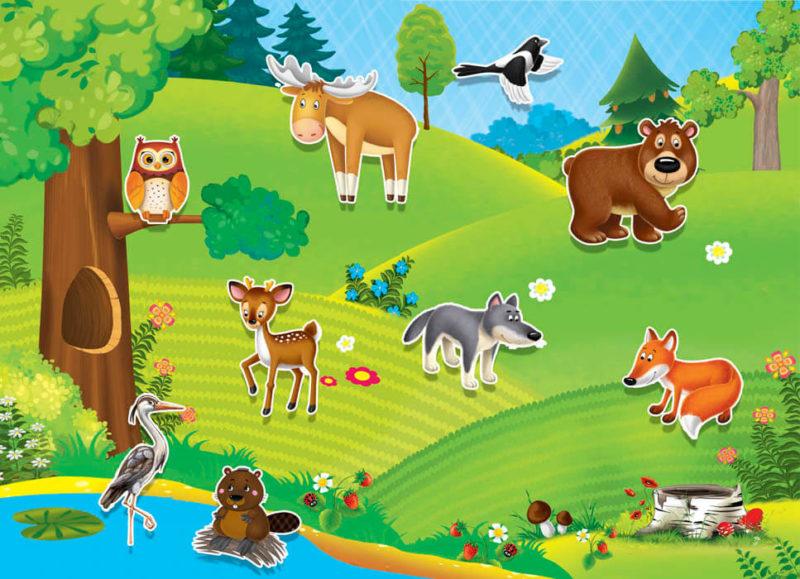 Дидактическая игра «Где живут животные»