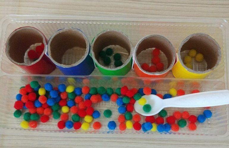 Игра «Разноцветные шарики»