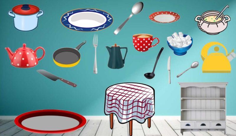 Дидактическая игра «Посуда»