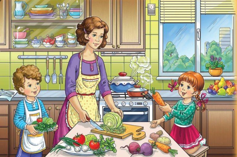 Мама готовит