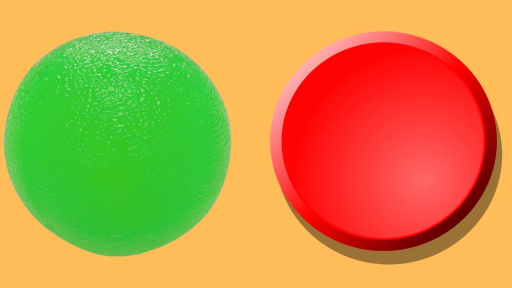 Зеленый и красный кружок