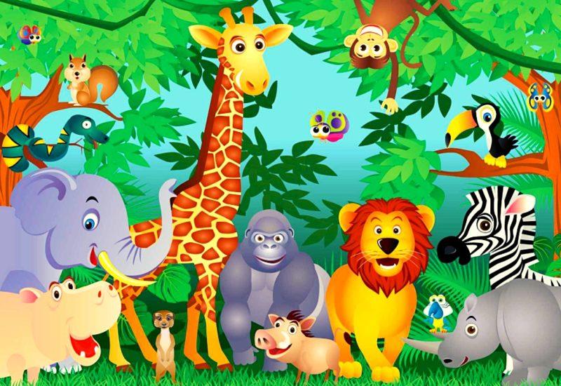 Картинки животных для проведения развивающих и познавательных игр с детьми