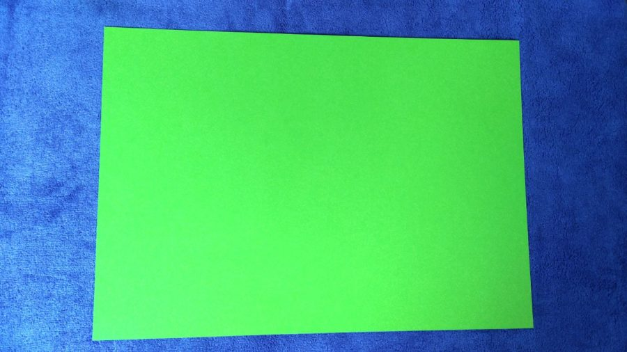 Бумага зеленого цвета