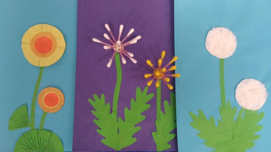 Весенняя поделка – аппликация «Одуванчик» для дошкольников разных возрастных групп